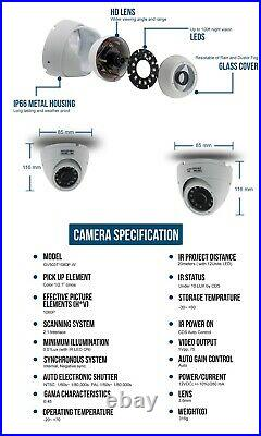 Hikvision Hilook CCTV 3x1080P Night Vision Outdoor DVR Home Security System Kit