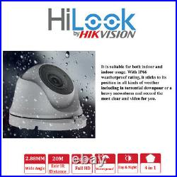 Hikvision Hilook CCTV 4CH 8CH Full HD DVR Cameras Outdoor Security System Kit