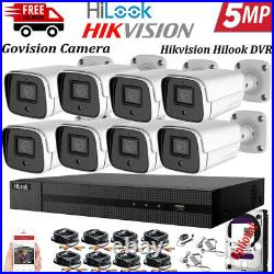 Hikvision Hilook CCTV Camera 5MP DVR Outdoor Night Vision IP66 Home Security Kit