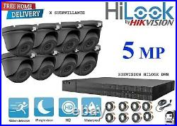Hikvision Hilook CCTV HD 5MP Night Vision Outdoor Home Security System Kit+ 2TB