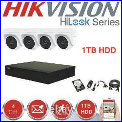 Hikvision Hilook Cctv Kit Box 4x Doom 2 Mp Camera System With 1tb Hdd Outdoor Hd