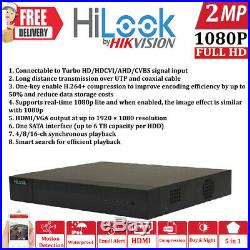 Hikvision Hilook Cctv System 4ch 8ch 16ch Dvr Bullet Nightvision Camera Full Kit