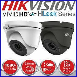 Hikvision Hilook Cctv System Hdmi Dvr Dome Night Vision Outdoor Camera Full Kit