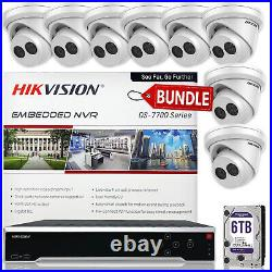 Hikvision IP Camera Kit DS-7716NI-I4/16P 16 Channel NVR, 8 Cameras, 6TB Drive