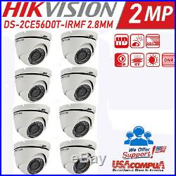 Hikvision Kit Ds- 7208hghi-f1 1080p H264+ 1tb 8 Hikvision Vandal Proof Hd Dome