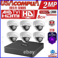 Hikvision Security Camera System Kit 8CH DVR with 6x cameras bundle 1080p