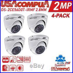 Hikvision kit 2MP 4CH TVI 2.8MM 1TB Hard disk Dome Camera 1080p