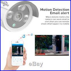 Hiseeu 1080P Wireless CCTV 8CH NVR Kit Outdoor IR Night Vision IP Camera WiFi