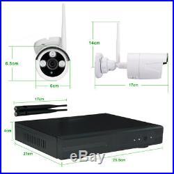 Hiseeu 960P Wireless CCTV 8CH NVR Kit Outdoor IR Night Vision IP WiFi Camera Sec