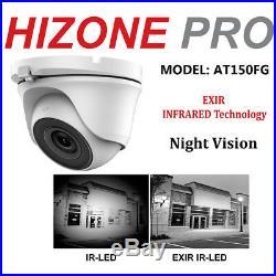 Hizone Pro 8mp 5mp Cctv System 4ch 8ch Dvr Outdoor Night Vision Camera Full Kit