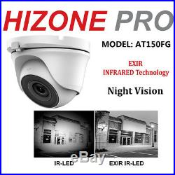 Hizone Pro CCTV 4K 1080P HD 5MP NightVision Outdoor DVR Home Security System Kit