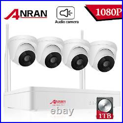 Home Security System Wireless 8CH IP Audio Camera CCTV 1080P 1TB HDD Indoor Kit