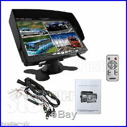 Horse Trailer Rear View Kit 7 Split QUAD Monitor 4 CCD Backup Camera Waterproof