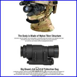 Infrared HD Night Vision Helmet Telescope Tactical Rifle Scope Hunting Kit