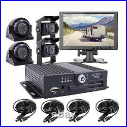 JOINLGO 4CH 1080P Mobile Vehicle Car DVR MDVR SONY Camera Kit with 10 Screen