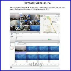JOINLGO WIFI GPS 4G 1080P AHD HDD Car DVR Kit with SONY IR Cameras Remote View
