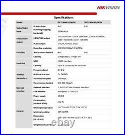 Last. Hikvision 4MP WIFI Wireless IP System 4 Cameras Kit 4CH NVR1TB MIC Full Kit