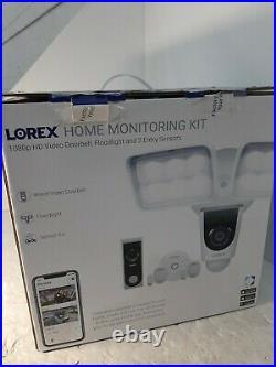 Lorex Home Monitoring Kit featuring 1080p HD Video Doorbell & Floodlight