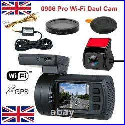 Mini 0906 Pro Wi Fi Dual Full 1080P HD GPS Dash Cam FREE H-WIRE KIT & CPL