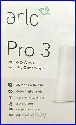NEW! Arlo Pro 3 Wire Free Camera Kit Wireless 2K HDR Security 3 Camera System