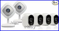NEW Arlo by NETGEAR Security Camera Kit 4 Wire-Free Indoor/Outdoor HD Cameras