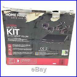 NEW Home Protector 4 Camera HD CCTV Kit With Night Vision Safe and Secure B08109