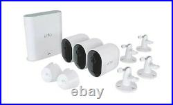 New Arlo Pro3 2K QHD Wire-Free Security Camera System 3-Pack Kit Wireless Pro 3
