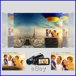 ORDRO AC3 4K Ultra 24MP DV 30X Zoom WIFI Night Vision Digital Video Camera Kit