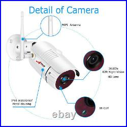 Outdoor Wireless Home Security System IP Camera with 7 Monitor Surveillance Kit