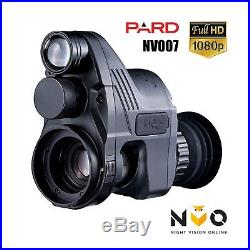 PARD NV007 Night Vision Rifle Scope Add On Kit 1080p HD Recording 850nm IR Torch