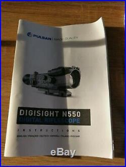 PULSAR Digisight N550 Digital Night Vision Scope Kit with peli case