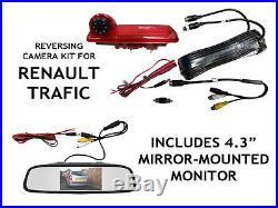 Renault Traffic Reversing Camera Kit For Brake Light Integration 2014 to Present