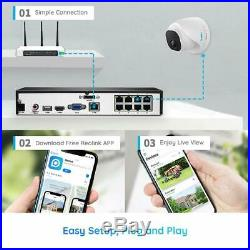Reolink 4K 8MP HD PoE Security Camera DIY Kit 2x 8MP Outdoor Dome Camera 8CH NVR