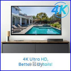 Reolink 4K HD Security Camera System 8CH PoE NVR 4x8MP PoE Camera Kit RLK8-800B4