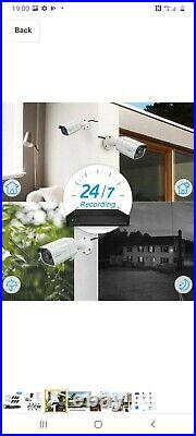 Reolink 4K HD Security Camera System 8CH PoE NVR 6 CAM 8MP Camera Kit RLK8-800B6