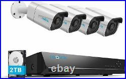 Reolink 4K PoE Security Camera CCTV System 8CH NVR 8MP 4 Camera Kit RLK8-800B4