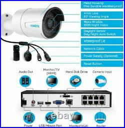 Reolink 8CH 5MP HD PoE Security Camera DIY Kit 2x 5MP Outdoor PoE Camera 2TB NVR