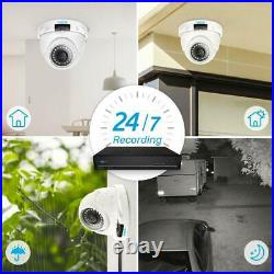 Reolink 8CH NVR 4MP PoE Home CCTV Security Camera System Kit Outdoor NightVision