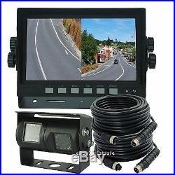 Reversing Camera Kit Rear View System 7 Split Lcd+dual Twin Double Lens Camera