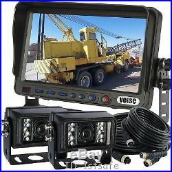 Reversing Camera Kit Revese System 7 Rear View LCD For Excavator Oversize Truck