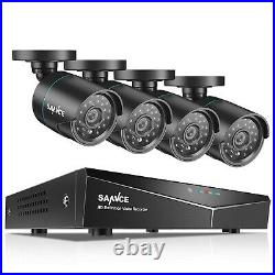 SANNCE 1TB 8 Channel 1080N DVR CCTV System Kit 4 x HD In/Outdoor IP66 Cameras