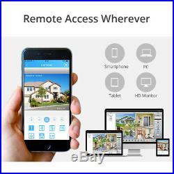 SANNCE 8CH 5MP Lite DVR 3000TVL CCTV AI Camera Home Surveillance System Kit 1TB
