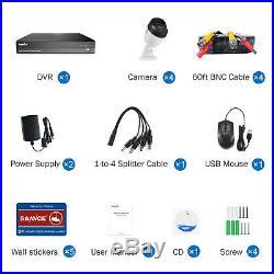 SANNCE HD 8CH 1080P 5MP Lite DVR AI Human CCTV Home Security Camera System Kit