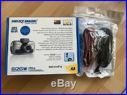 SEALED NEXTBASE 612GW GPS Wi-Fi Dash Cam 4K Ultra HD Video Recorder Hardwire Kit