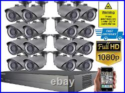 Samsung AHD Full HD 1080P CCTV Bullet Camera Kit 4 8 16 Channel Security Record
