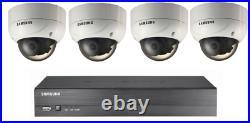 Samsung CCTV Vandal Resistant Dome Camera Security Recorder Starter Kit Home