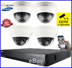 Samsung Network 1080P HD CCTV Dome Camera Home Security Kit Night Vision Secure