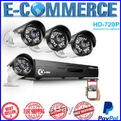 Security Camera System Kit With DVR Record Night Vision Waterproof Motion Alert