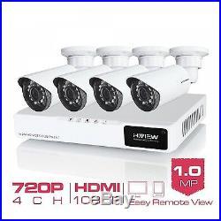 Security System Kit CCTV Camera 1200 TVL Outdoor Night Vision Surveillance 4pcs