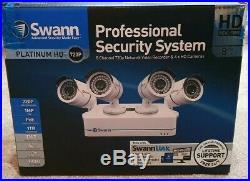 Swann NVR8-7085 8 Channel HD 1TB NVR Video Recorder 4x NHD-806 Camera CCTV Kit